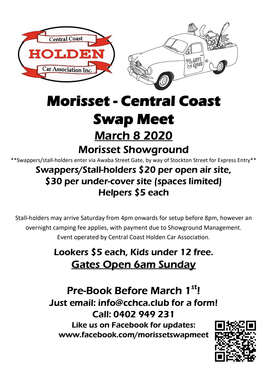 Morisset Swap Meet 2020 @ Morisset Showground | Morisset | New South Wales | Australia