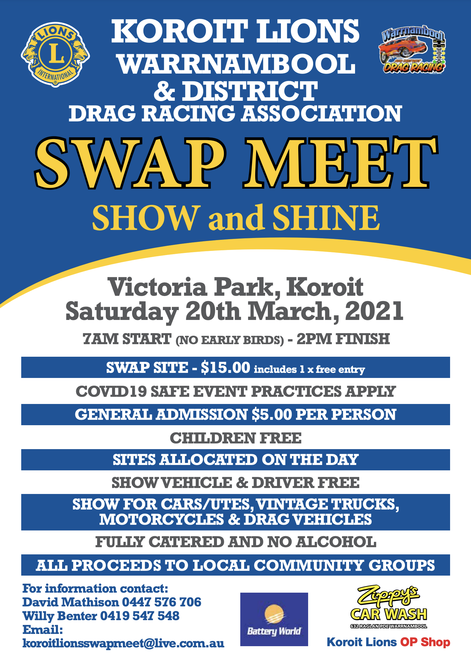 11th Annual Koroit Swap Meet  PLUS Show & Shine 2021 @ Victoria Park | Koroit | Victoria | Australia