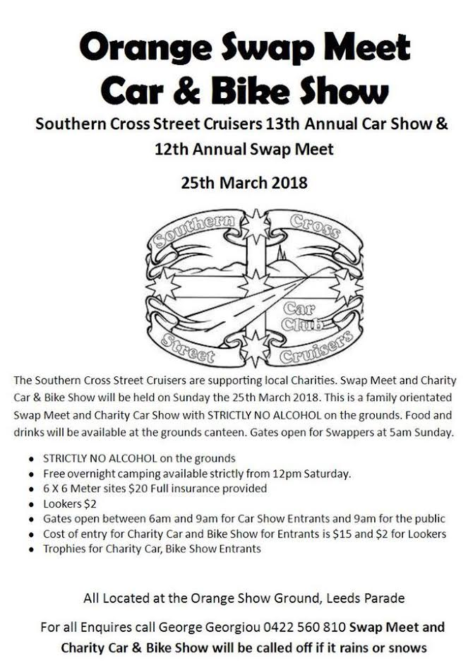 Orange Swap Meet Car, Bike & Truck Show 2018 @ Orange Showground | Orange | New South Wales | Australia