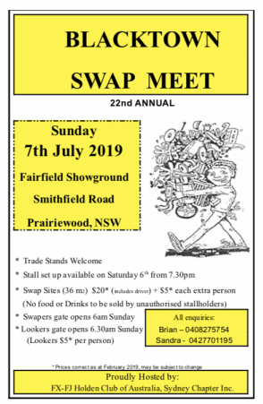 Blacktown Swapmeet 2019 @ Fairfield Showgrounds | Wakeley | New South Wales | Australia