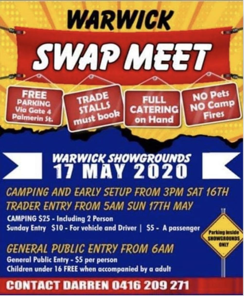 Warwick Swapmeet 2020 @ Warwick Showgrounds | Warwick | Queensland | Australia