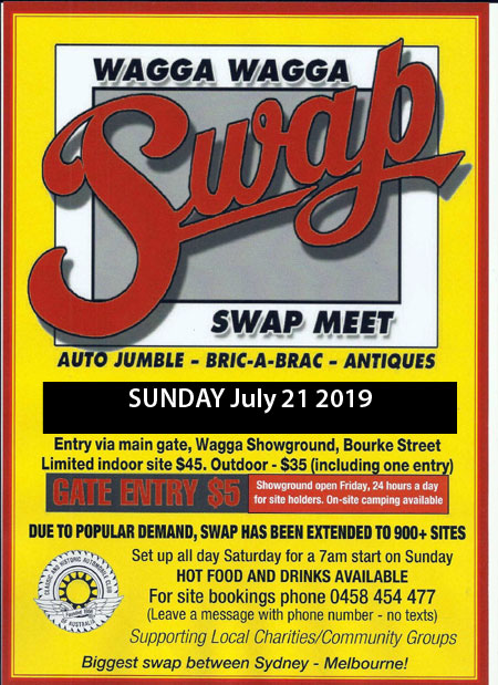 Wagga Wagga Swap Meet 2019 @ Wagga Wagga Showgrounds | Turvey Park | New South Wales | Australia