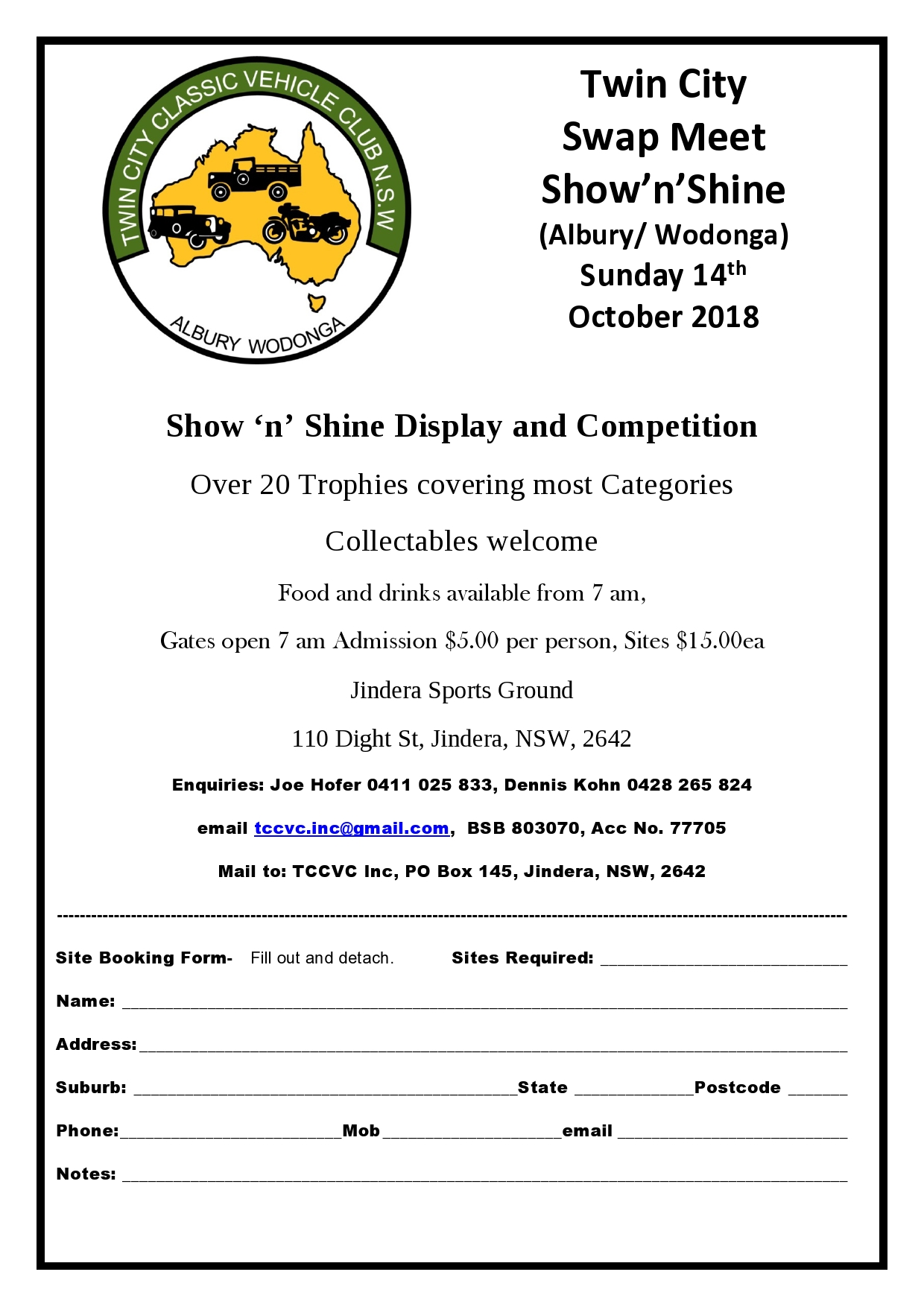 swap meet bendigo 2015 form