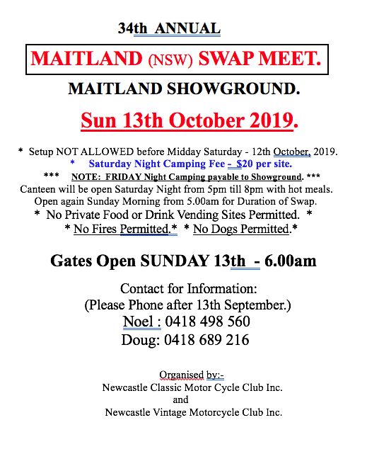 Maitland Swapmeet 2019 @ Maitland Showground | South Maitland | New South Wales | Australia