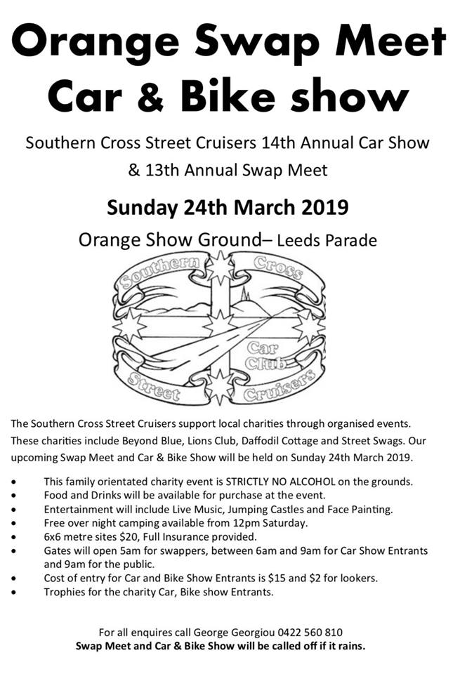 Orange Swap Meet Car, Bike & Truck Show 2019 @ Orange Showground | Orange | New South Wales | Australia