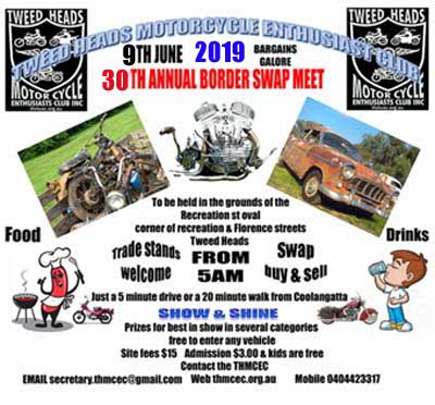 30th Annual Border Swapmeet 2019 @ Recreation St, Tweed Heads NSW 2485 | Tweed Heads | New South Wales | Australia