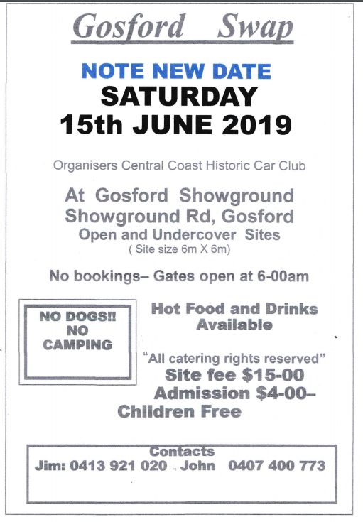 Gosford Swapmeet 2019 @ Gosford Showground | New South Wales | Australia
