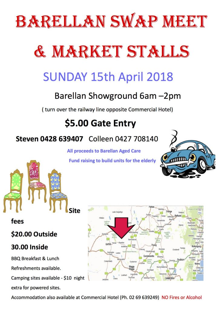 BARELLAN SWAP MEET 2018 @ Barellan Showground | Barellan | New South Wales | Australia
