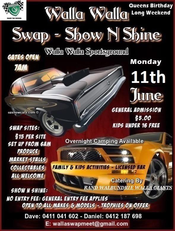 Walla Walla Swapmeet, Show & Shine 2018 @ Walla Walla Sportsground