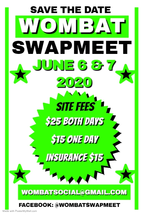 Cancelled - Wombat Swap Meet 2020 @ Wombat New South Wales 2587 | Wombat | New South Wales | Australia