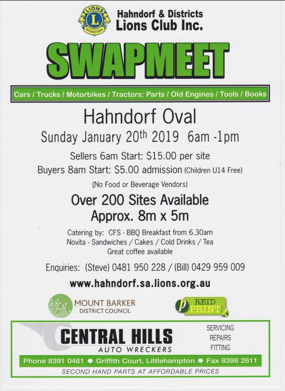 Hahndorf Lions Club Swapmeet 2019 @ Hahndorf Oval | Hahndorf | South Australia | Australia