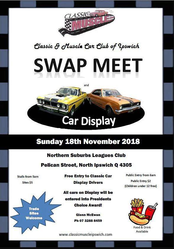 Classic & Muscle Car Club of Ipswich 2018 annual Swap Meet