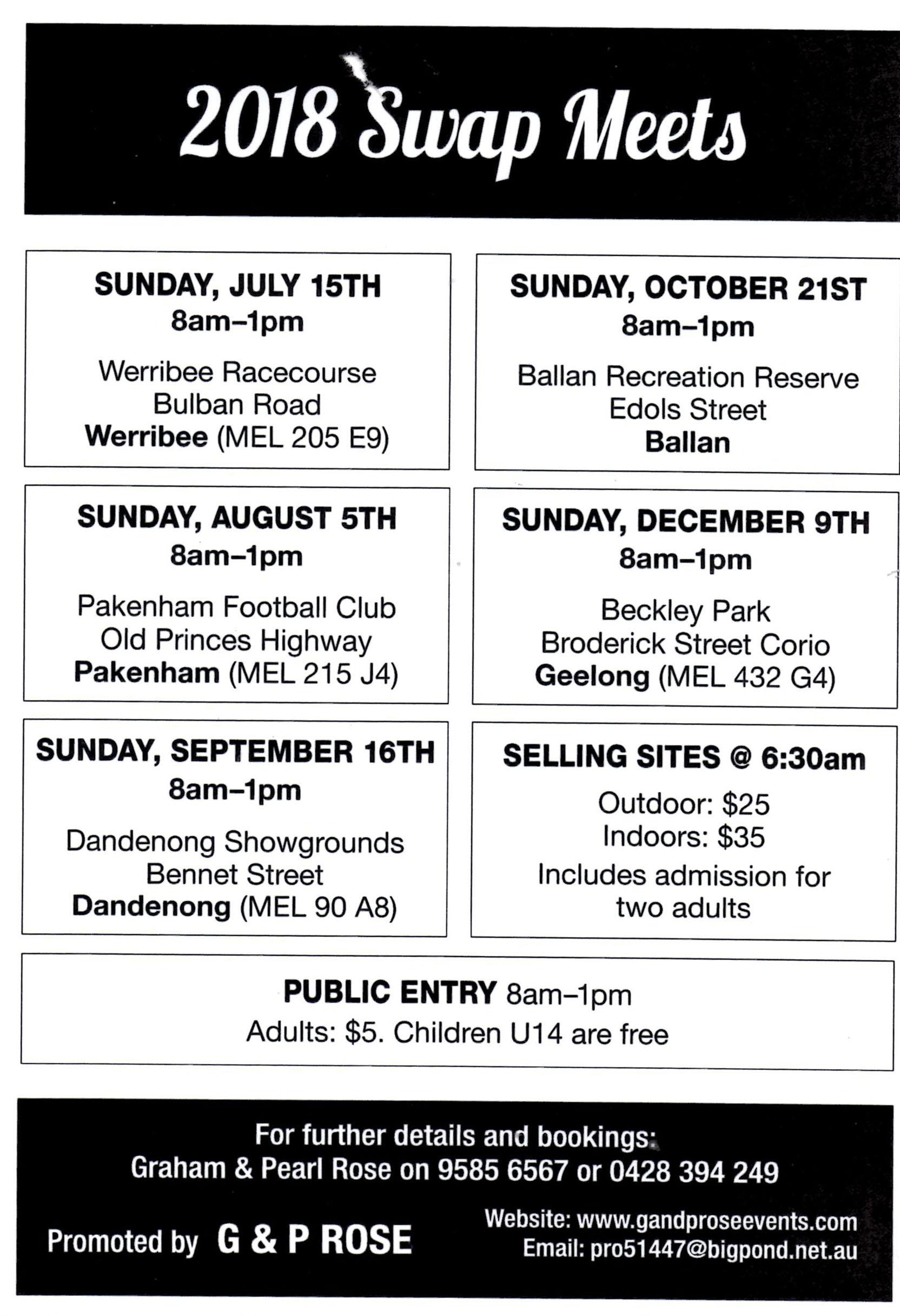 Ballan Swapmeet 2018 @ Ballan Recreation Reserve | Ballan | Victoria | Australia