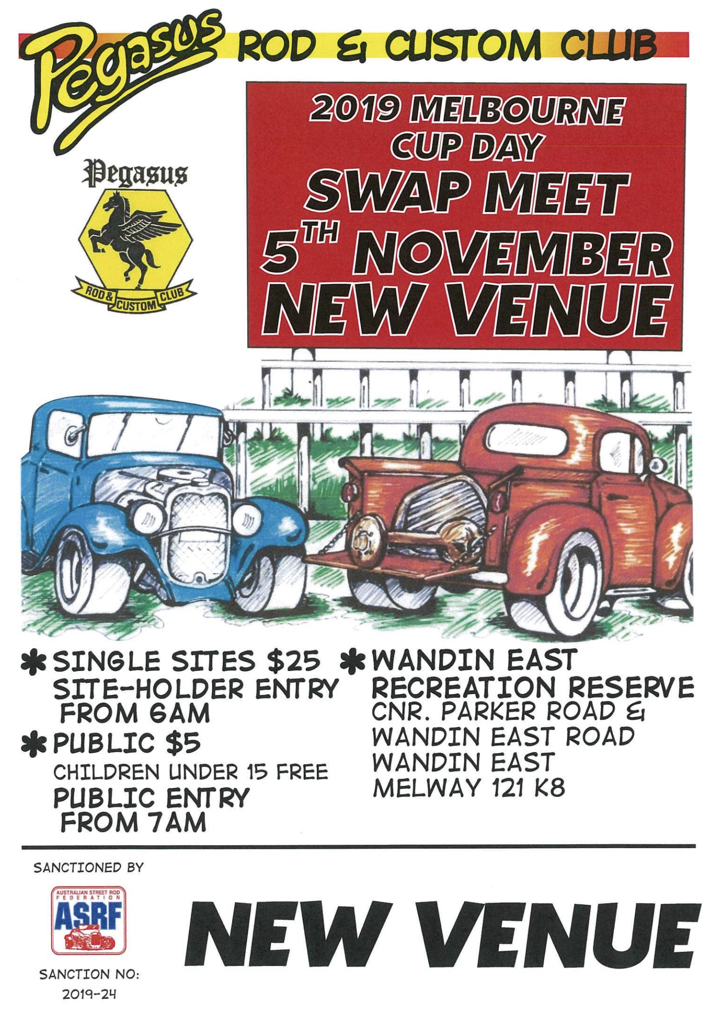 Pegasus Rod & Custom Club Swapmeet 2019 Melbourne CUP @ Wandin East Recreation Reserve | Wandin East | Victoria | Australia