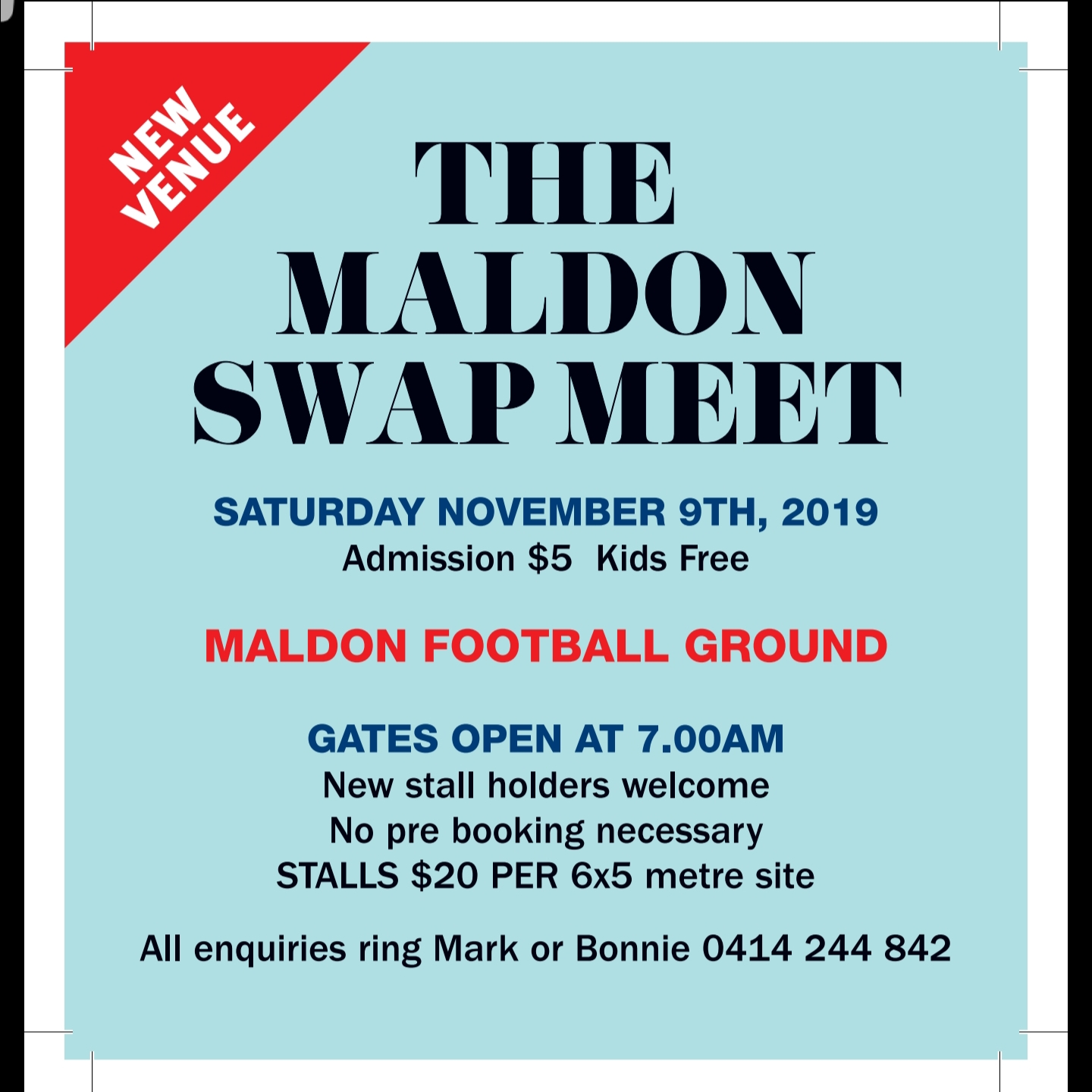 The Maldon Swap Meet 2019 @ Maldon Football Oval | Maldon | Victoria | Australia