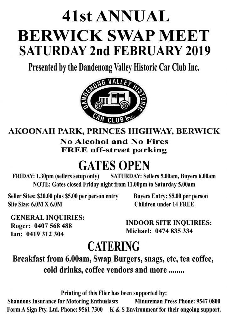 Berwick Swapmeet 2019 @ Akoonah Park, Berwick | Berwick | Victoria | Australia