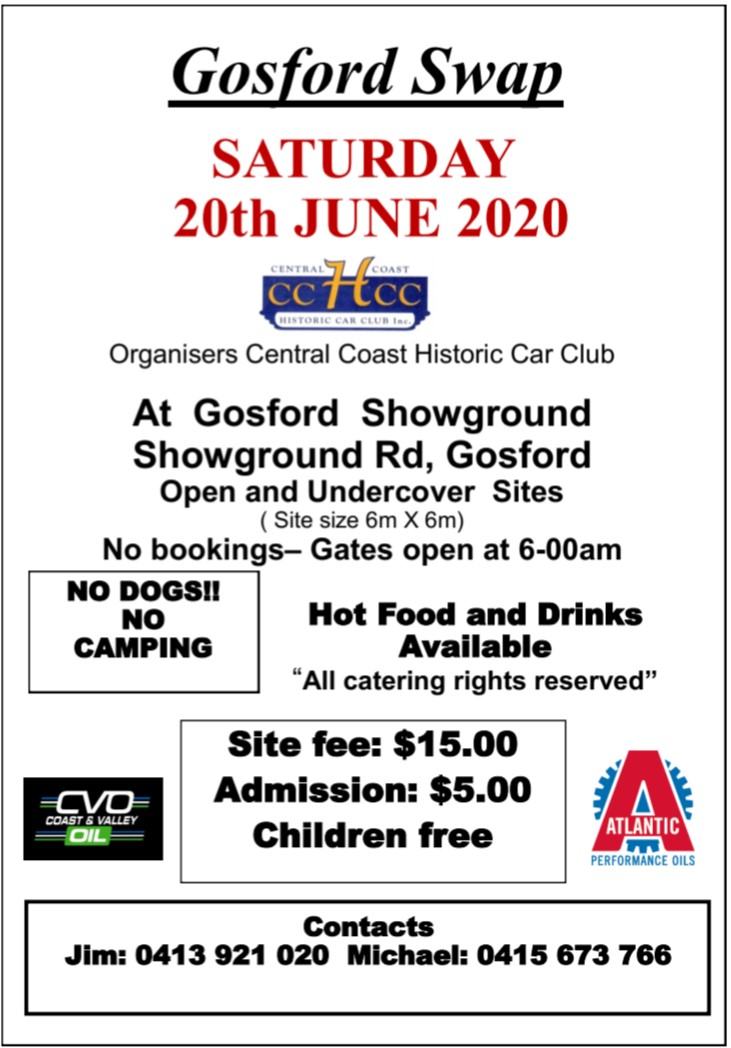 CANCELLED - Gosford Swapmeet 2020 @ Gosford Showground | New South Wales | Australia