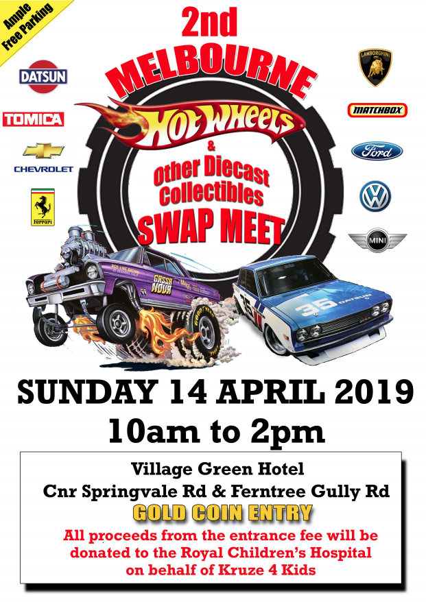Melbourne Hot Wheels Swapmeet 2019 @ Village Green Hotel | Mulgrave | Victoria | Australia