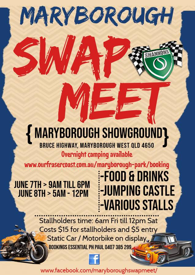 Maryborough Swapmeet 2019 @ Maryborough Showgrounds | Maryborough West | Queensland | Australia