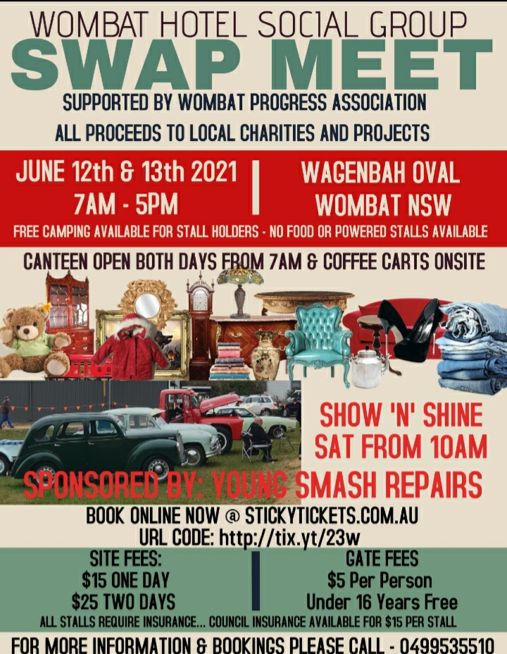 Wombat Swap Meet 2021 @ Wombat New South Wales 2587 | Wombat | New South Wales | Australia