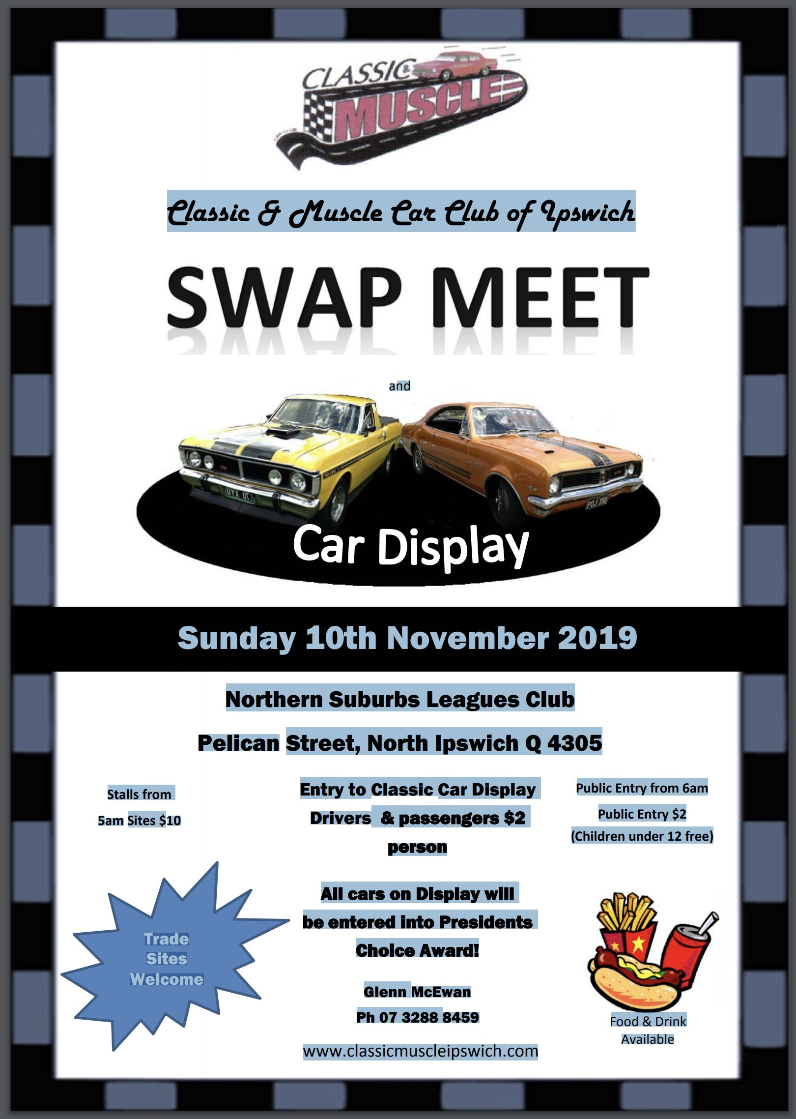 Classic & Muscle Car Club of Ipswich Swapmeet 2019 @ Northern Suburbs Leagues Club | North Ipswich | Queensland | Australia