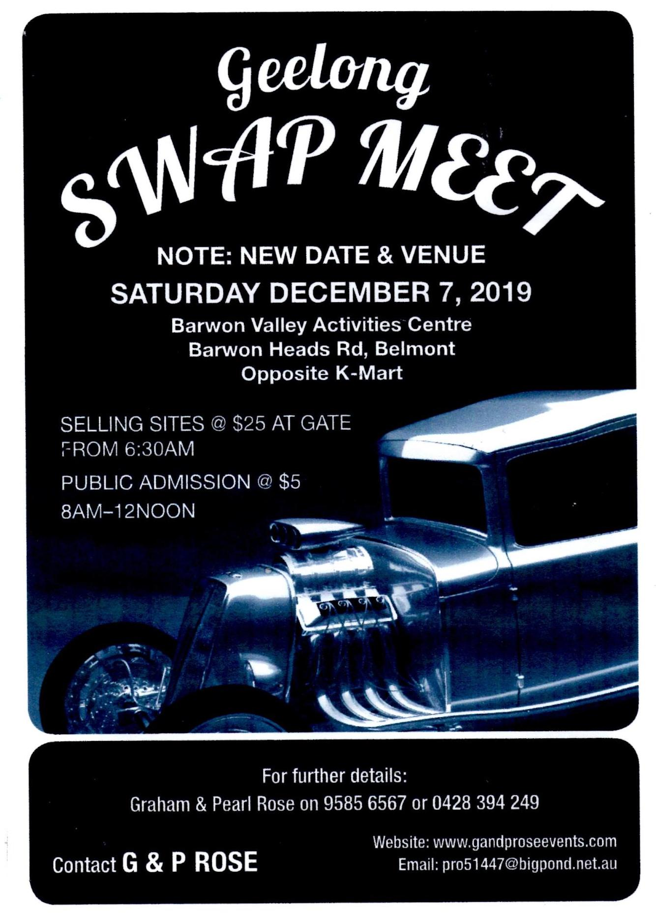 Geelong BARWON VALLEY Swapmeet December 7th 2019 @ BARWON VALLEY ACTIVITIES CENTRE | Belmont | Victoria | Australia