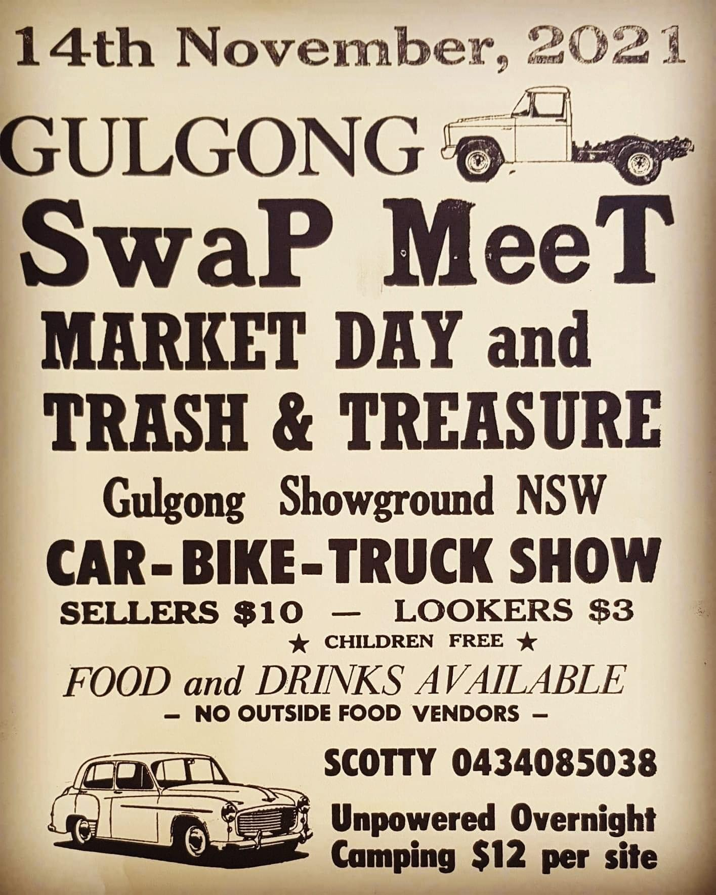 Gulgong Swapmeet 2021 @ Gulgong Showground | Gulgong | New South Wales | Australia