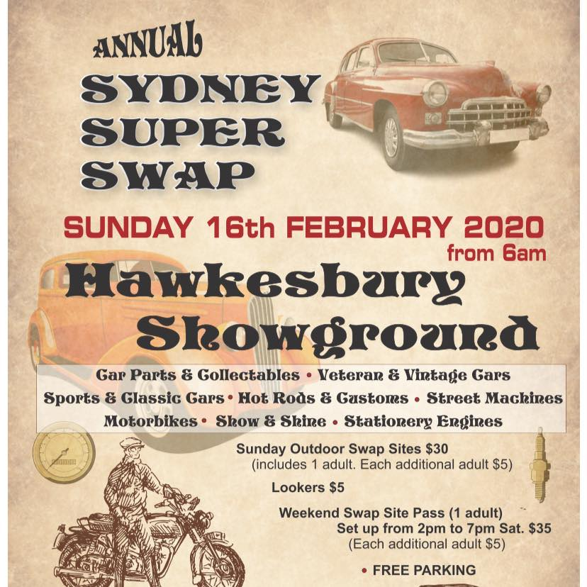 Sydney Super Swapmeet 2020 - Hawkesbury @ Hawkesbury Showgrounds | Clarendon | New South Wales | Australia