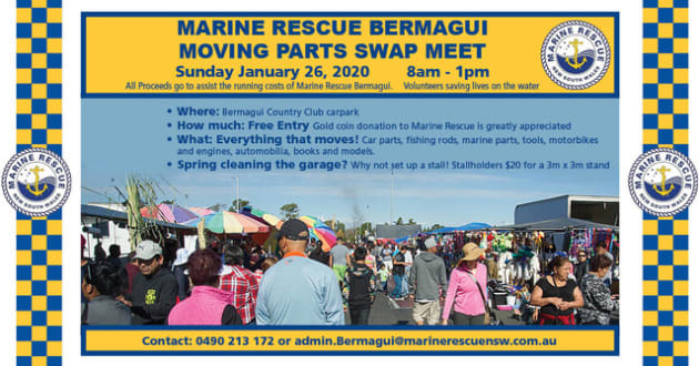 Bermagui Marine Rescue Moving Parts Swap Meet 2020 @ Bermagui Country Club | Bermagui | New South Wales | Australia