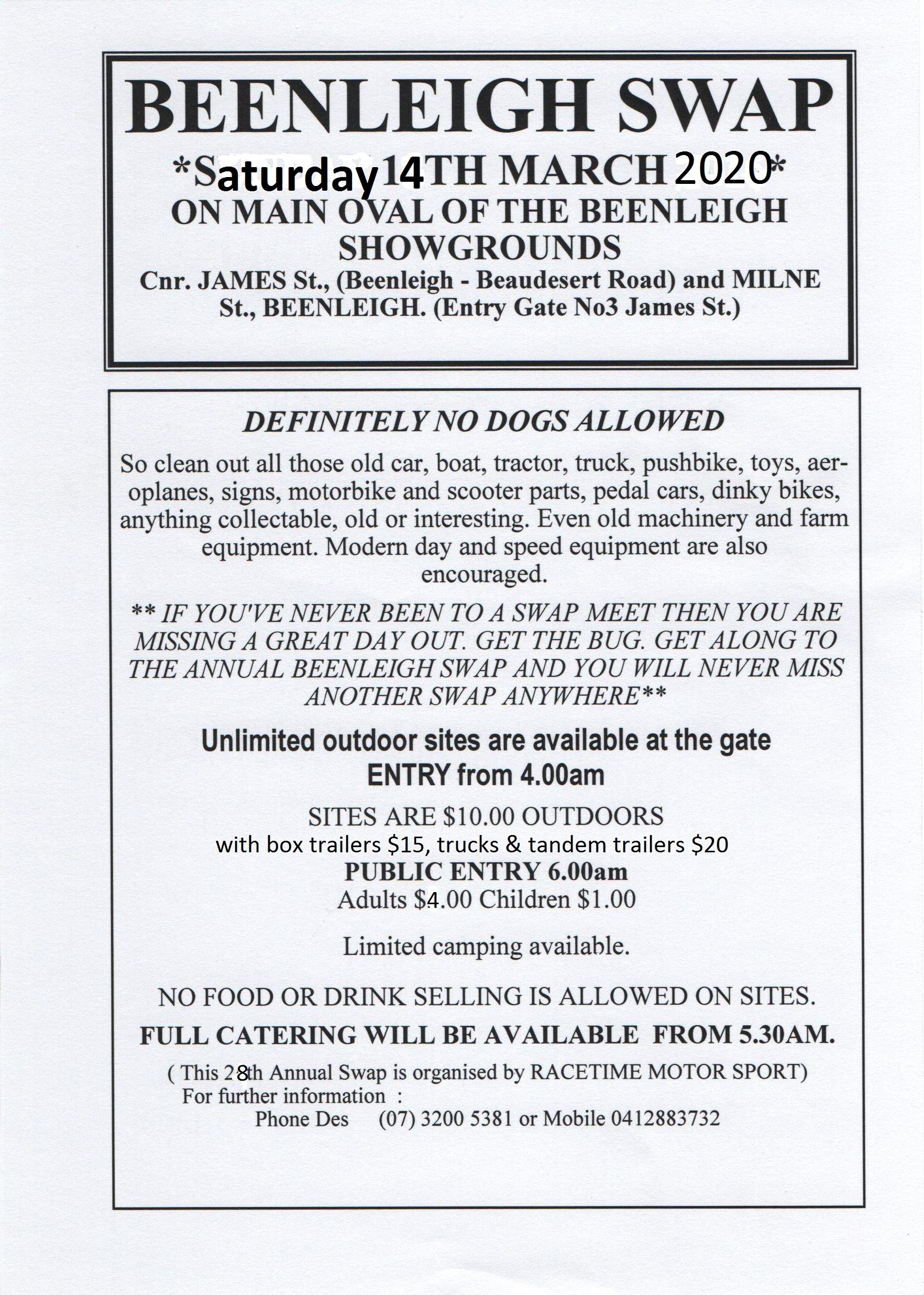 Beenleigh Queensland Annual Swapmeet 2020 @ Beenleigh Showground | Beenleigh | Queensland | Australia