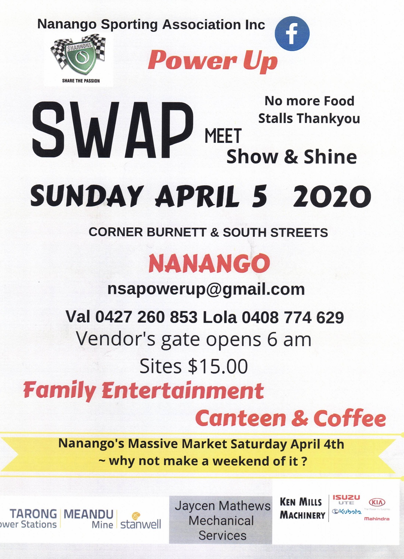 POSTPONED - Nanango Swapmeet 2020 @ Corner Burnett and South Street | Nanango | Queensland | Australia
