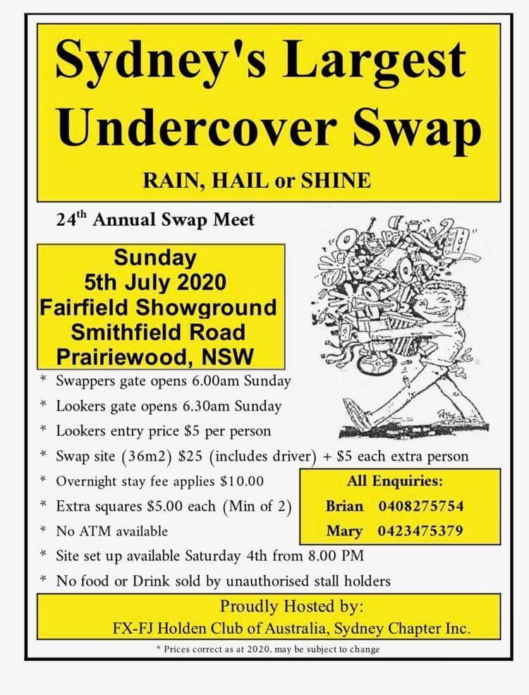 Syndey Swapmeet 2020 - By FX/FJ Club @ Fairfield Showground | Prairiewood | New South Wales | Australia