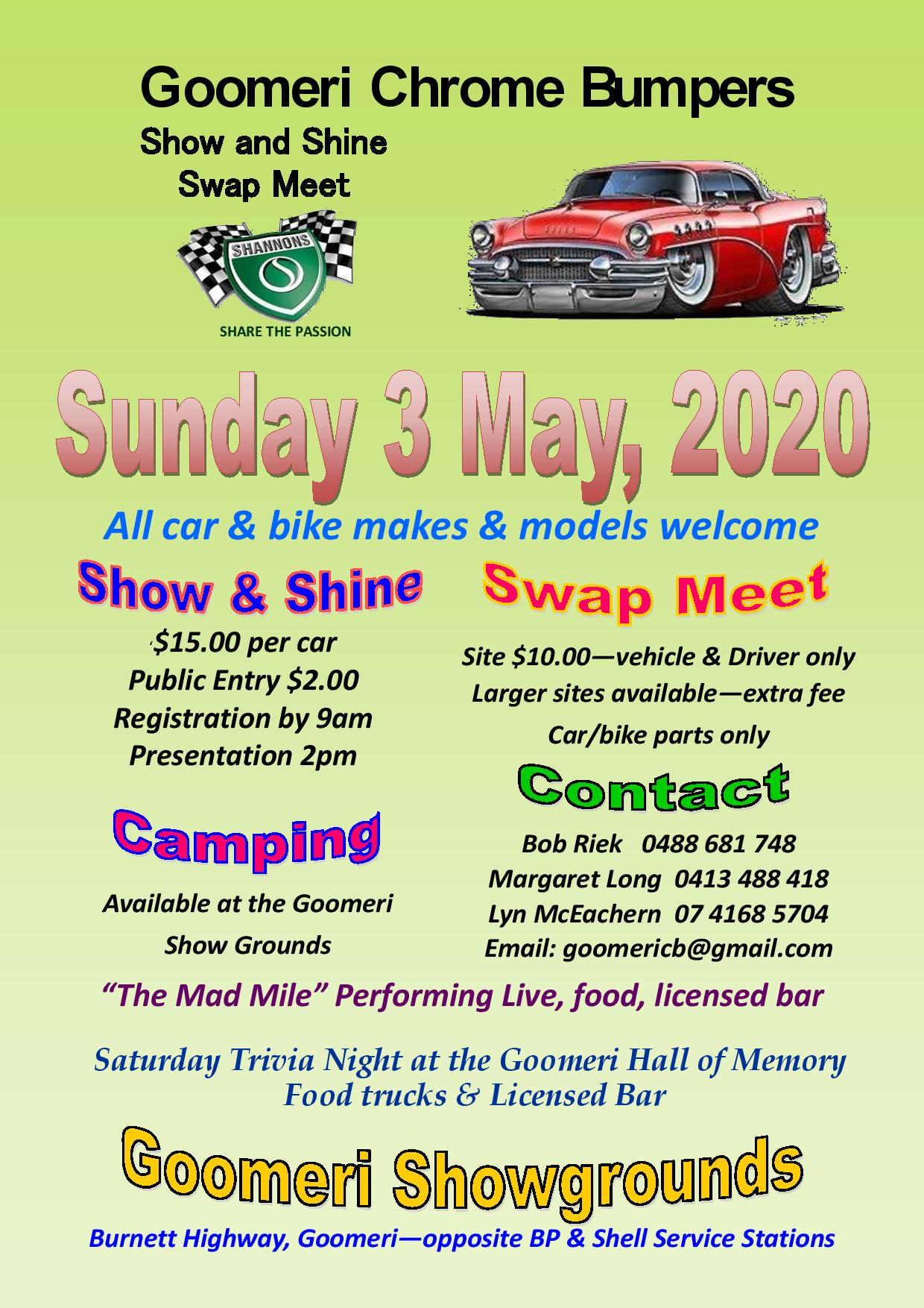 Goomeri Show & Shine Swap Meet 2020 @ Goomeri Showgrounds | Goomeri | Queensland | Australia
