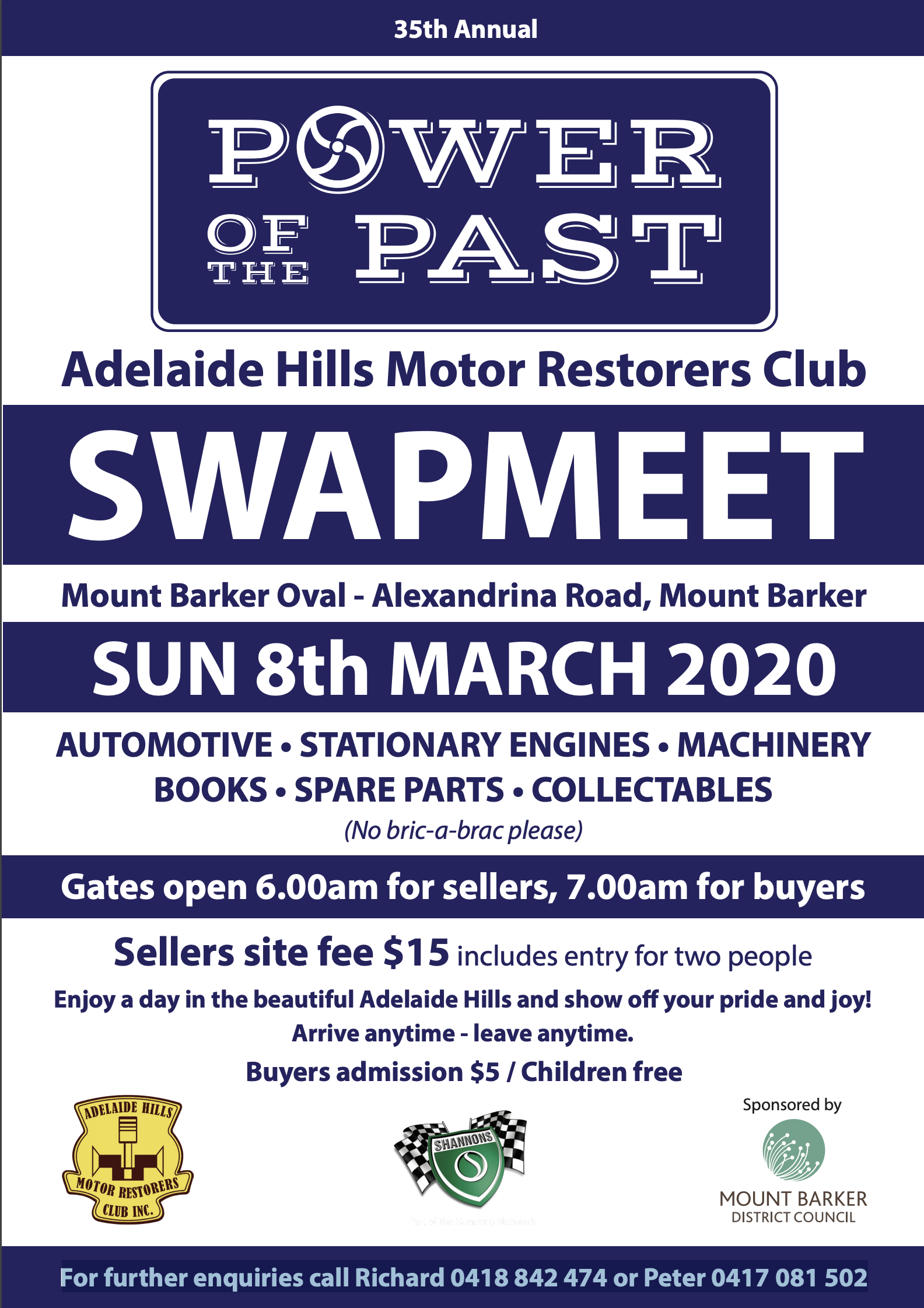Swapmeet at Power of the Past 2020 @ Mt Barker Oval SA | Mount Barker | South Australia | Australia