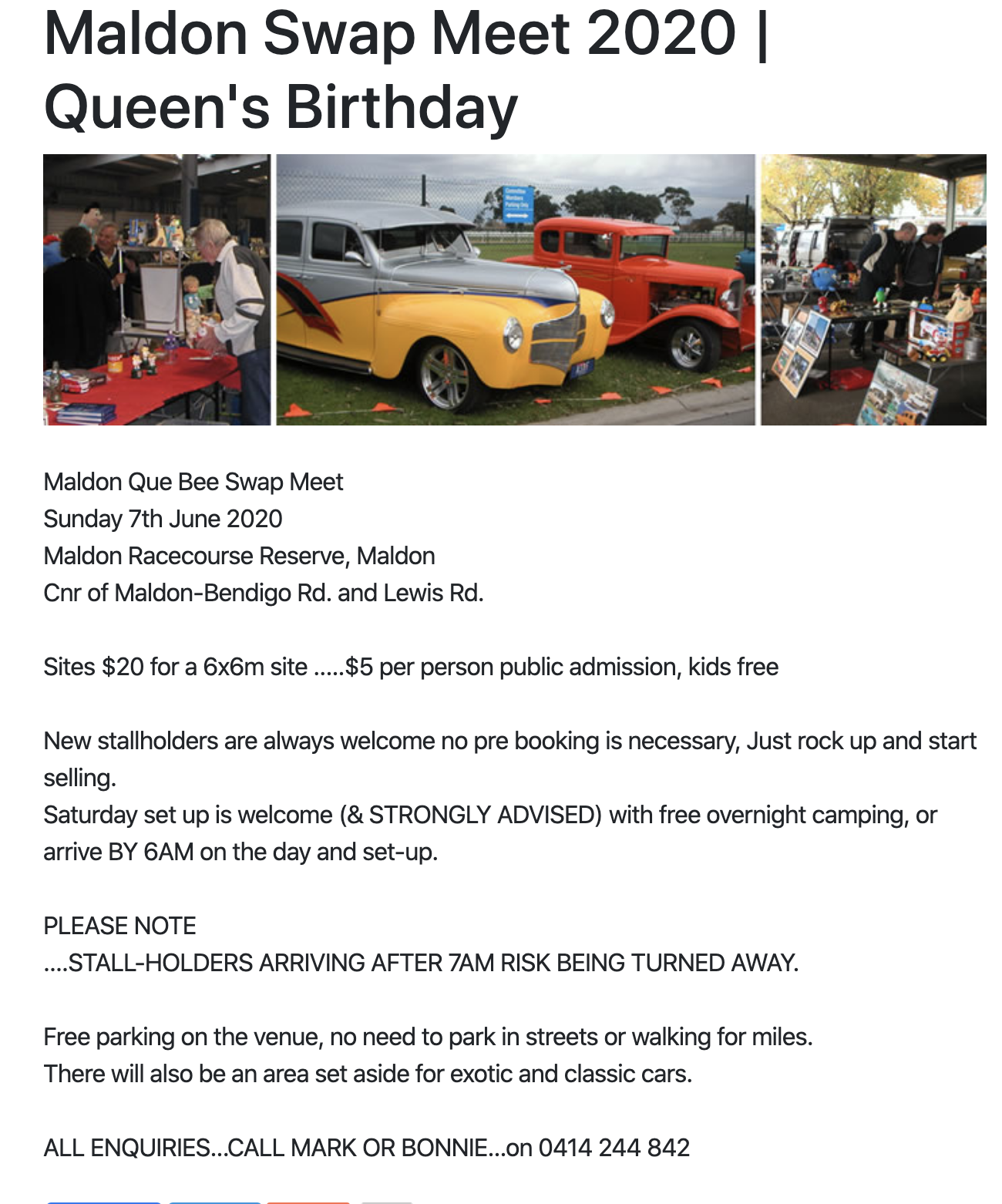 The Maldon Swap Meet 2020 @ Maldon Racecourse Recreation Reserve | Maldon | Victoria | Australia