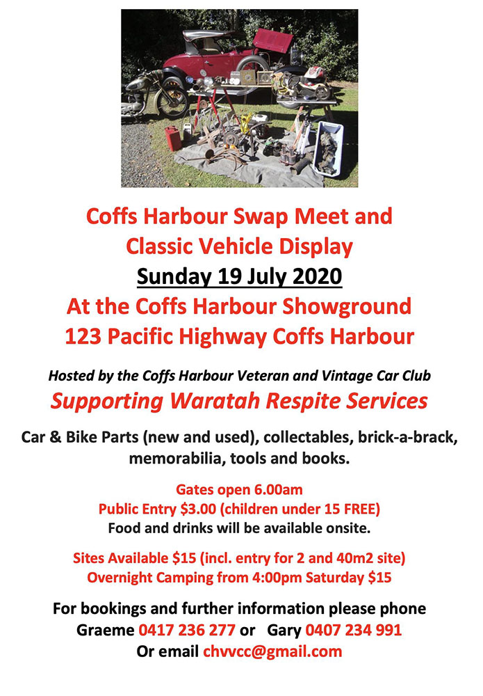 CANCELLED - Coffs Harbour Swap Meet 2020 @ Coffs Harbour Showground | Coffs Harbour | New South Wales | Australia