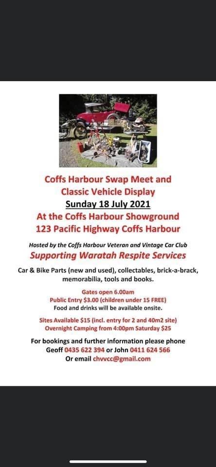 Coffs Harbour Swap Meet 2021 @ Coffs Harbour Showground | Coffs Harbour | New South Wales | Australia