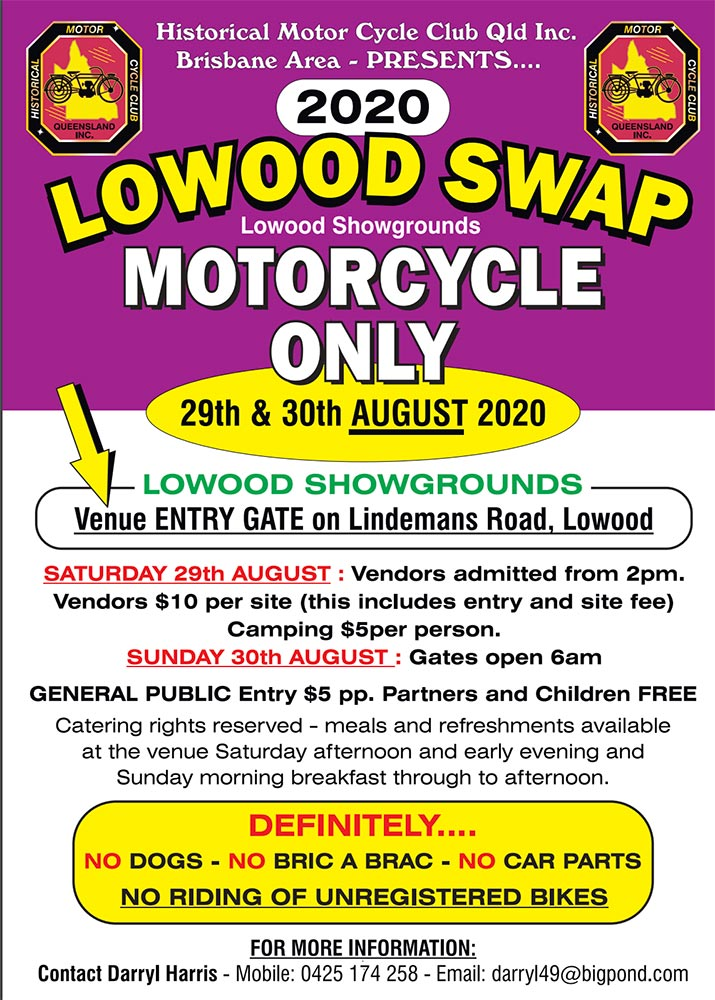 CANCELLED - Lowood Swapmeet 2020 @ Lowood Showgrounds | Lowood | Queensland | Australia