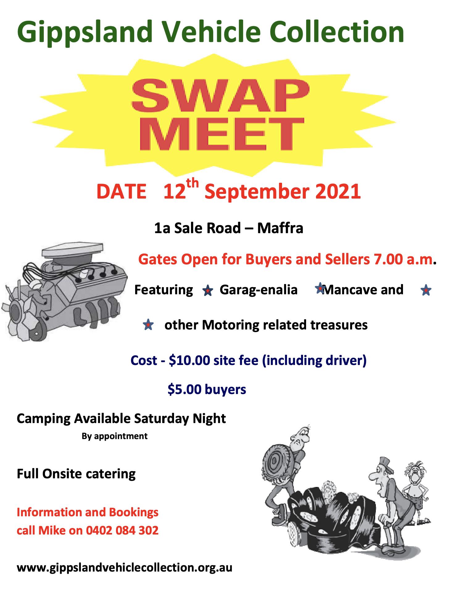 Gippsland Vehicle Collection Swap Meet 2021 @ Maffra | Victoria | Australia