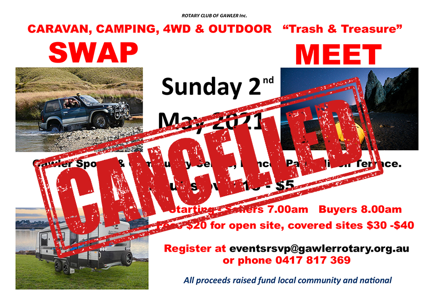 CANCELLED - CARAVAN CAMPING, 4WD and Outdoor  AND SWAPMEET WITH TRASH & TREASURE 2021 @ Princes Park, Nixon Terrace, Gawler | Gawler | South Australia | Australia