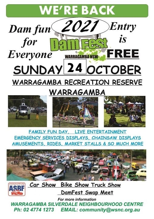 Damfest Swap Meet 2021 @ Warragamba Recreation Reserve | Warragamba | New South Wales | Australia