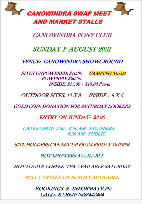 Canowindra Swapmeet and Market 2021 @ Canowindra Showgrounds | Canowindra | New South Wales | Australia
