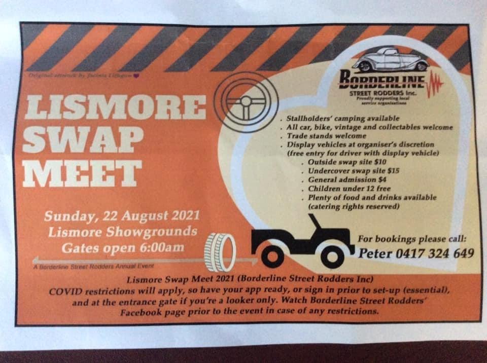 Lismore Swapmeet 2021 @ Lismore Showgrounds | North Lismore | New South Wales | Australia