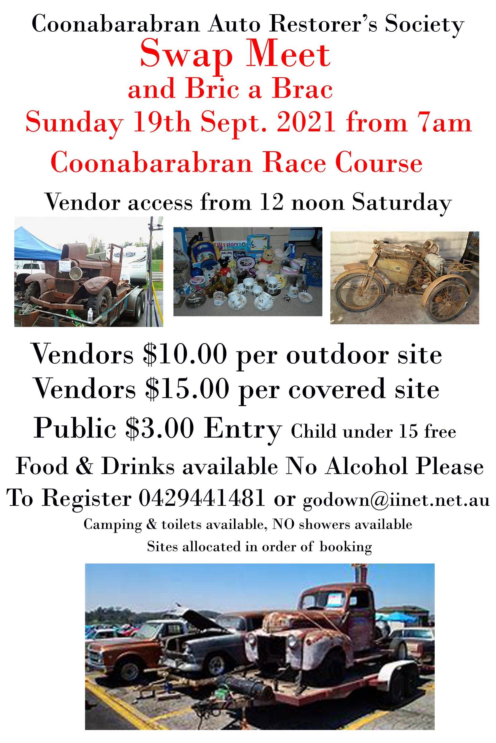 Coonabarabran Car Club Swapmeet 2021 @ Coonabarabran Racecourse australia | Coonabarabran | New South Wales | Australia