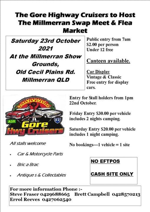 The Gore Highway Swapmeet @ Millmerran ShowGrounds | Millmerran | Queensland | Australia