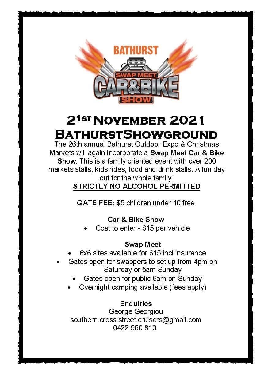 Bathurst Car and Bike Swapmeet 2021 @ Bathurst Showgrounds | Bathurst | New South Wales | Australia